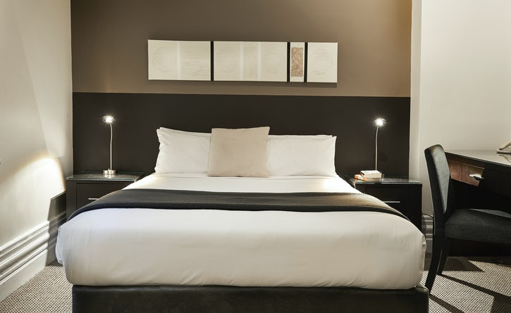 Standard Queen bed at Vulcan Boutique Hotel Sydney