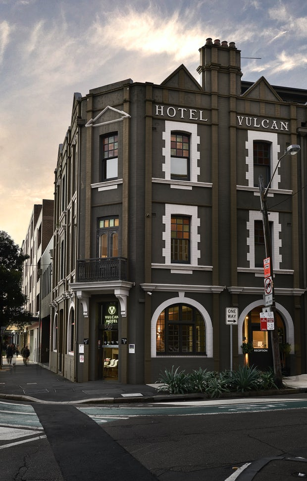 Front of Vulcan Hotel Boutique Accommodation Sydney