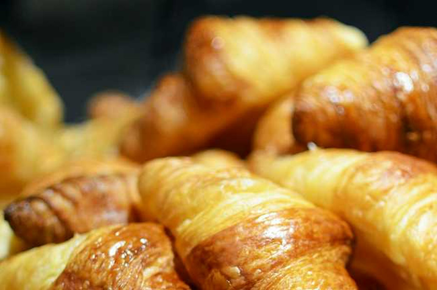 Buttery croissants at for breakfast at Cafe Vulcan , Ultimo