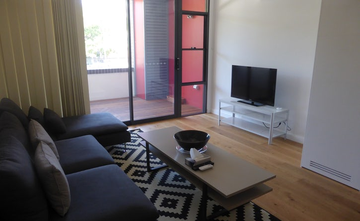Studio apartment living area at Vulcan Boutique Hotel Ultimo