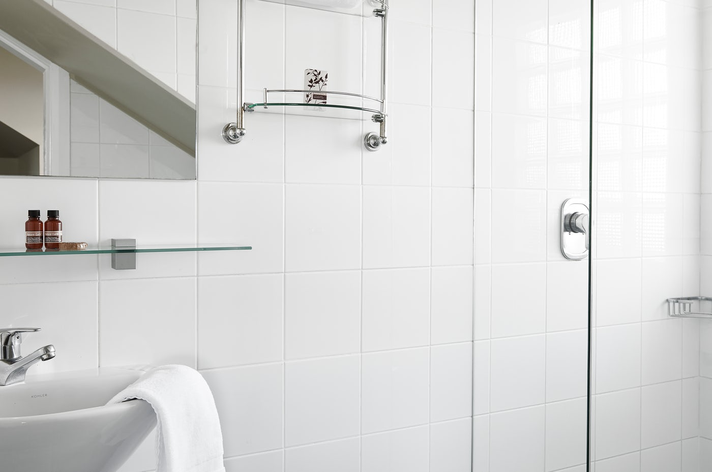 Bathroom in Studio at Boutique Sydney Accommodation - Vulcan Hotel, Ultimo